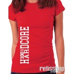 Dámske tričko 100% Hardcore/ Vertical logo