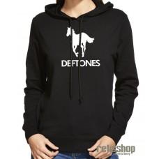 Dámska mikina s kapucňou Deftones logo