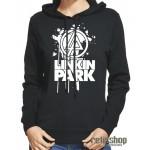 Dámska mikina s kapucňou Linkin Park/ white logo