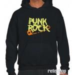 Mikina pánska s kapucňou Punk rock/ Pin