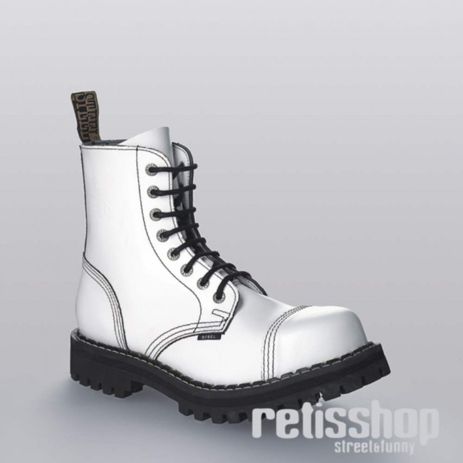 723fc1ef8a2a3 8-dierkové topánky Steel/ plno biele