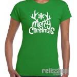 Tričko dámske Merry Christmas/ Snowflake